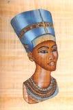 Oude Egyptische Koningin Stock Foto's