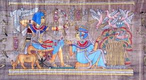 Oude Egyptische papyrus royalty-vrije stock fotografie