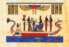 Oude Egyptische papyrus Royalty-vrije Stock Afbeeldingen
