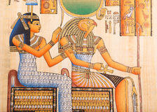 Oude Egyptische papyrus Royalty-vrije Stock Foto