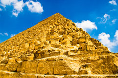 Oude Egyptische Piramide stock foto