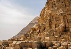 Oude Egyptische piramide van Giza royalty-vrije stock foto