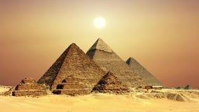 Oude Egyptische piramides, symbool van Egypte stock videobeelden