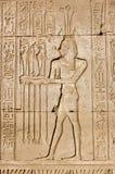 Oude Egyptische priester voor god Hapi Stock Afbeelding