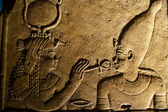 Oude Egyptische scène Royalty-vrije Stock Afbeeldingen