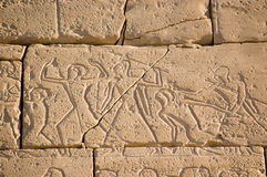 Oude Egyptische Slag, Ramesseum, Luxor Royalty-vrije Stock Foto