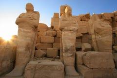 Oude Egyptische standbeelden Stock Foto