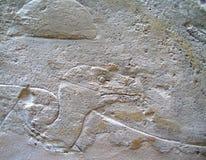 Oude Egyptische Steengravures royalty-vrije stock fotografie