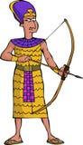Oude Egyptische strijder Stock Afbeelding
