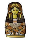 Oude Egyptische vrouw Stock Foto