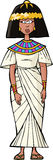 Oude Egyptische vrouw Stock Foto's