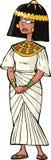 Oude Egyptische vrouw Stock Afbeeldingen