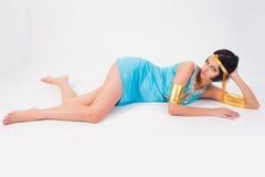 Oude Egyptische vrouw - de rol van Cleopatra Stock Afbeelding