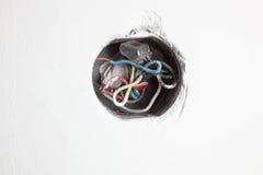 Oude elektrische distributiedoos Stock Fotografie