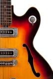 Oude elektrische gitaar Royalty-vrije Stock Afbeeldingen