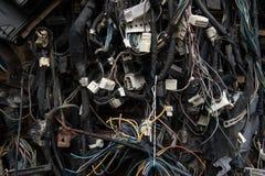 Oude elektrische kabels Stock Afbeeldingen