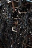 Oude elektrische kabels Stock Foto