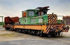 Oude elektrische locomotief Royalty-vrije Stock Foto's