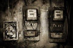 Oude Elektrische meter Royalty-vrije Stock Foto's