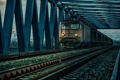 Oude elektrische trein royalty-vrije stock foto