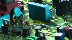 Oude elektronische de kringsraad van TV stock footage