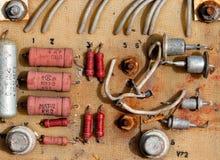 Oude elektronische kring Stock Foto's