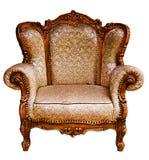 Oude elleboog-stoel stock afbeelding