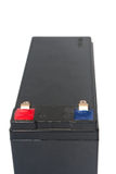 Oude en gebruikte zwarte 12V batterij Stock Foto's