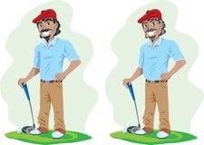 Oude en jonge Golfspeler royalty-vrije illustratie