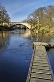 Oude en moderne bruggen Royalty-vrije Stock Foto
