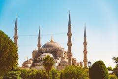 Oude en mooie moskee in Istanboel, Turkije royalty-vrije stock foto's