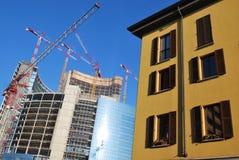 Oude en nieuwe architectuur Stock Foto