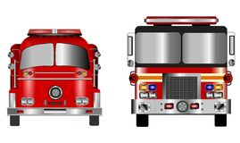 Oude en nieuwe brandmotor Royalty-vrije Stock Foto