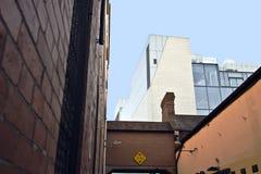Oude en nieuwe gebouwen Royalty-vrije Stock Foto