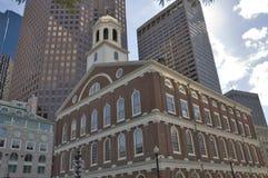 Oude en nieuwe gebouwen Stock Foto