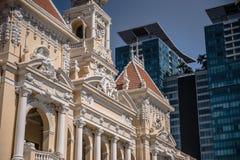 Oude en nieuwe gebouwen de van Vietnam, Royalty-vrije Stock Afbeelding