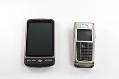 Oude en nieuwe mobiel Stock Afbeeldingen