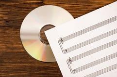 Oude en nieuwe technologie in muziek Stock Afbeeldingen