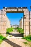 Oude en roman ru?nes van Jerash Gerasa, Jordani? royalty-vrije stock foto's