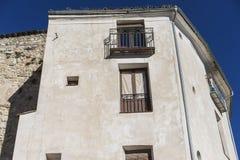 Oude en typische huizen van de Spaanse stad van Cuenca, wereldheri Royalty-vrije Stock Fotografie