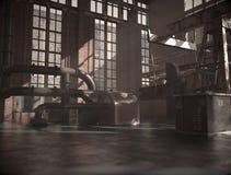 Oude en verlaten stedelijke fabriek Royalty-vrije Stock Foto's