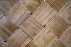 Oude en versleten geweven houten stroken Stock Foto's