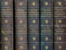 Oude encyclopedieën Royalty-vrije Stock Afbeeldingen