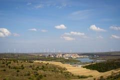 Oude energie, nieuwe energie Stock Foto's