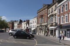 Oude Engelse marktstad van Devizes Wiltshire het UK Stock Afbeeldingen