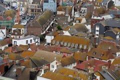 Oude Engelse stad. royalty-vrije stock foto