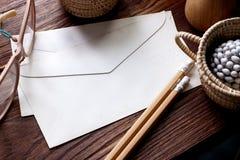Oude envelop Royalty-vrije Stock Foto