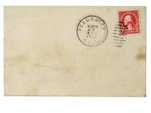 Oude envelop met 1928 2 centzegel Stock Afbeeldingen