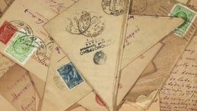 Oude Enveloppen stock footage