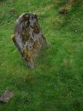 Oude ernstige steen. Stock Afbeelding